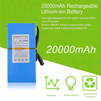 20000mAh 10 8V 12 6V DC Lithium Ion Polymer Rechargeable Battery With Working Indicator AC Power