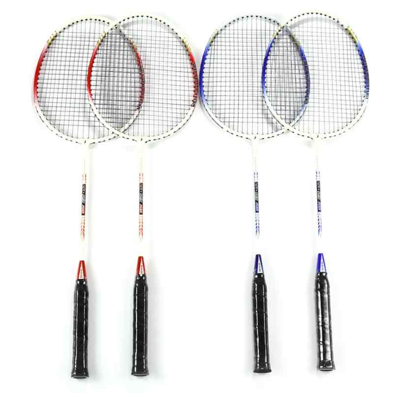 2 pcs 718A Aluminum Alloy Lightweight Badminton Racket with Carry Bag Training Badminton Racket Sports Equipment Durable