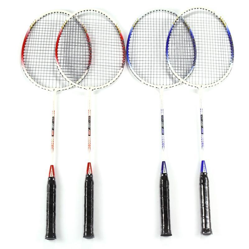 2 Pcs 718A Aluminum Alloy Lightweight Badminton Racket With Carry Bag Training Badminton Racket Sports Equipment Durable