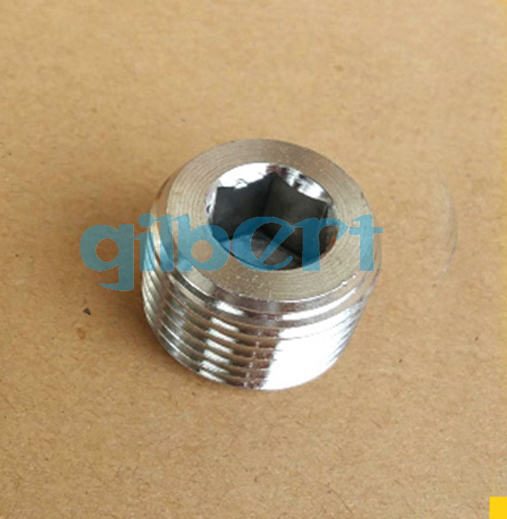 M10x1mm Male SS304 Countersunk End Plug With Flange Internal Hex Head Socket