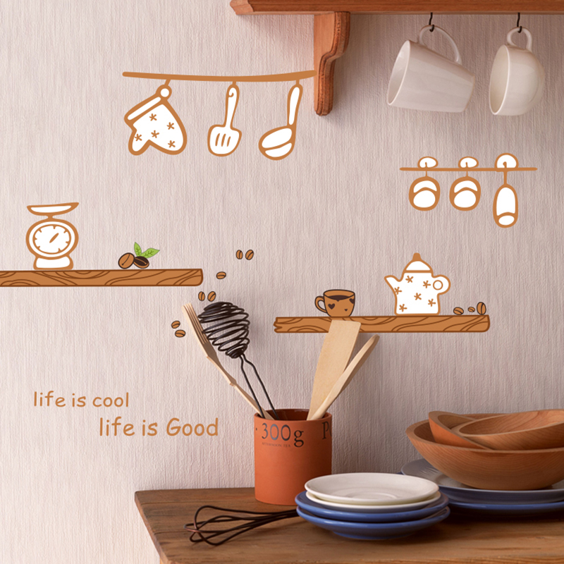 Happy Kitchen Wall Decal Sticker Home Decor DIY Removable ...