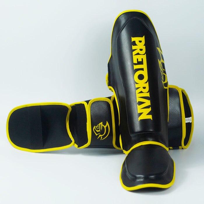 Pretorian profesión Grant boxeo Ticken espinilleras Greaves empeine Mma pie Muay Thai gemelos guantes hombres Mma Shin guardia