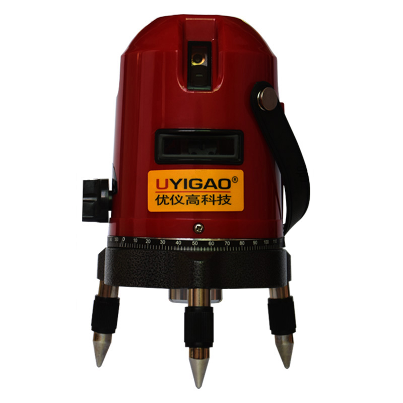 UYIGAO UA605 5 line Rotary Laser Beam Self Leveling Interior Exterior horizontal Laser Tripod Rotary Laser (5 Line) thyssen parts leveling sensor yg 39g1k door zone switch leveling photoelectric sensors