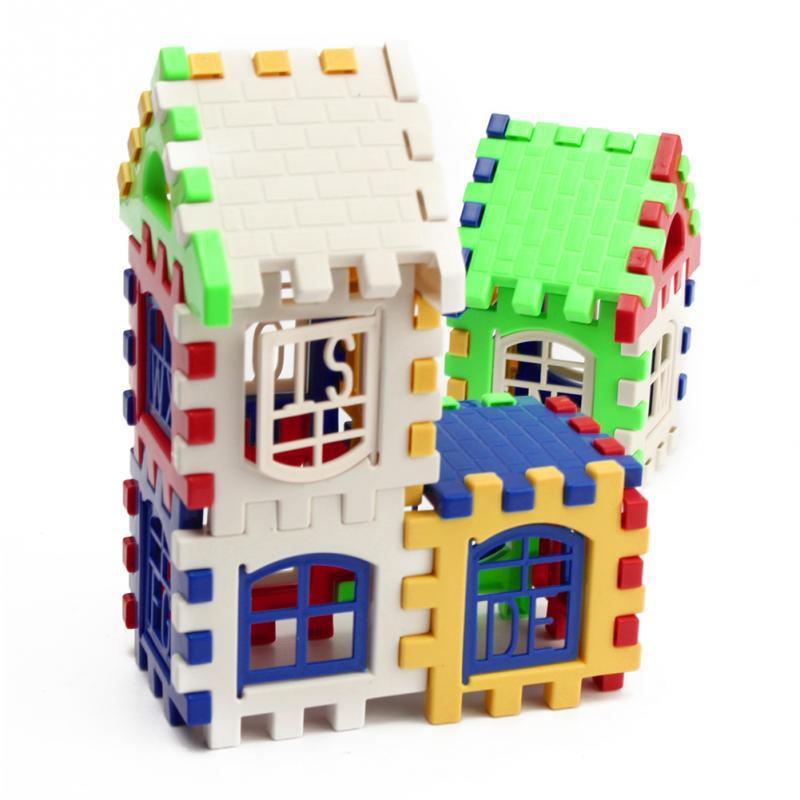 Baby Kids Children House Building Blocks Educational Learning Construction Developmental Toy Set Brain Game 7