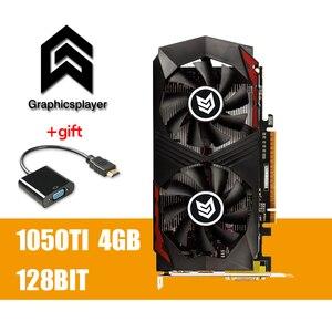 Image 1 - מקורי שבב גרפיקה כרטיס GTX1050TI 4GB /4096MB DDR5 128Bit Placa דה וידאו carte graphique וידאו כרטיס עבור nvidia