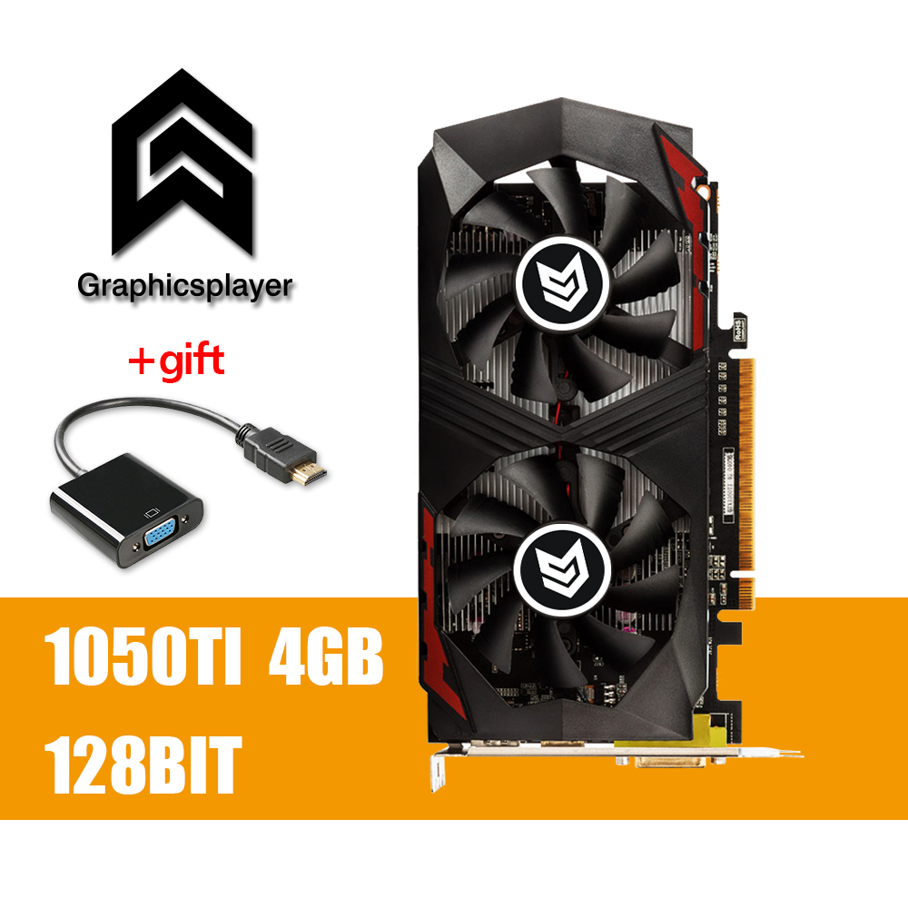 Grafikkarte PCI-E GTX1050TI 4 gb/4096 mb DDR5 128Bit Placa de Video carte graphique Video Karte für Nvidia