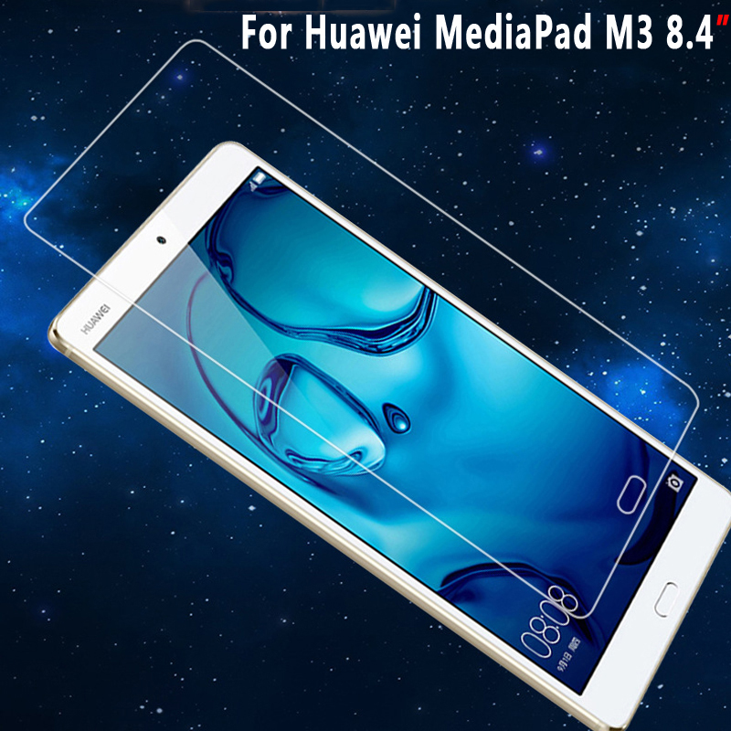 100% High Quality Clear Explosion-proof Screen Protector for Huawei MediaPad M3 9HD Tempered Glass for Huawei MediaPad M3 8.4