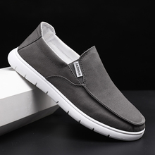Men Loafers Slip On Summer Shoes Men Casual Shoes Mocassin homme Breathable Canvas Driving Shoes Man Flats Chaussures homme