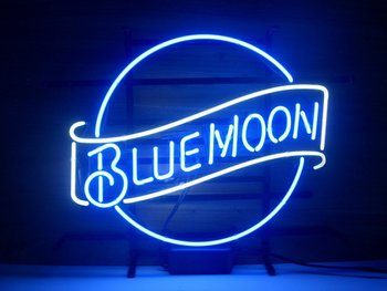 Blue Moon Neon Light Sign