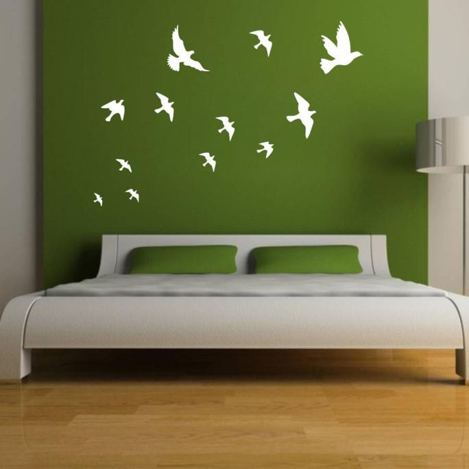 Compare Prices On Bird Mirror Wall Decals Online ShoppingBuy Low - Wall decals mirror