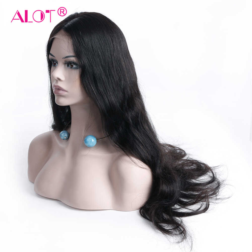 ALOT Body Wave 360 Lace Front Wig Brazilian Human Hair Wigs With Baby Hair PrePlucked Natural Hairline Remy Hair 150% 10-22Inch