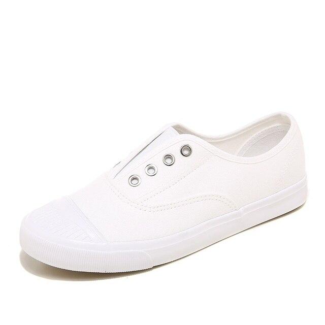 2017 mujeres del resorte zapatos de lona blancos zapatos de moda zapatos casuales bajo Vulcanizado zapatos para las mujeres más el tamaño de los zapatos negro gris superficial azul