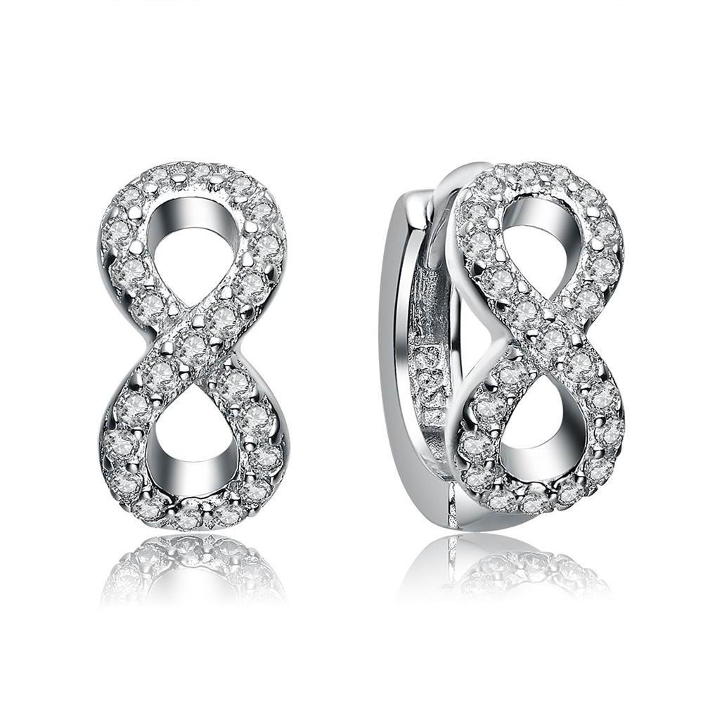 Silver Infinity Shape Earrings