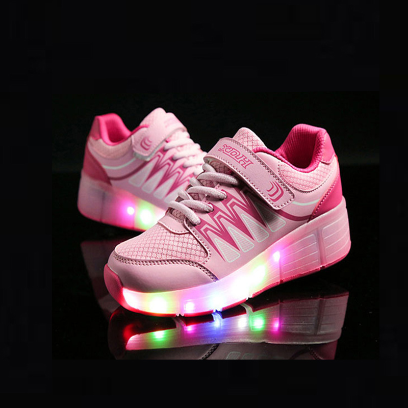 Led Glowing Shoes For Boys girls Fashion Light Up Casual kids 5 Colors USB charge new children luminous sneakers little boys girls led light wings shoes for children fashion kids usb charging luminous sneakers glowing shoes