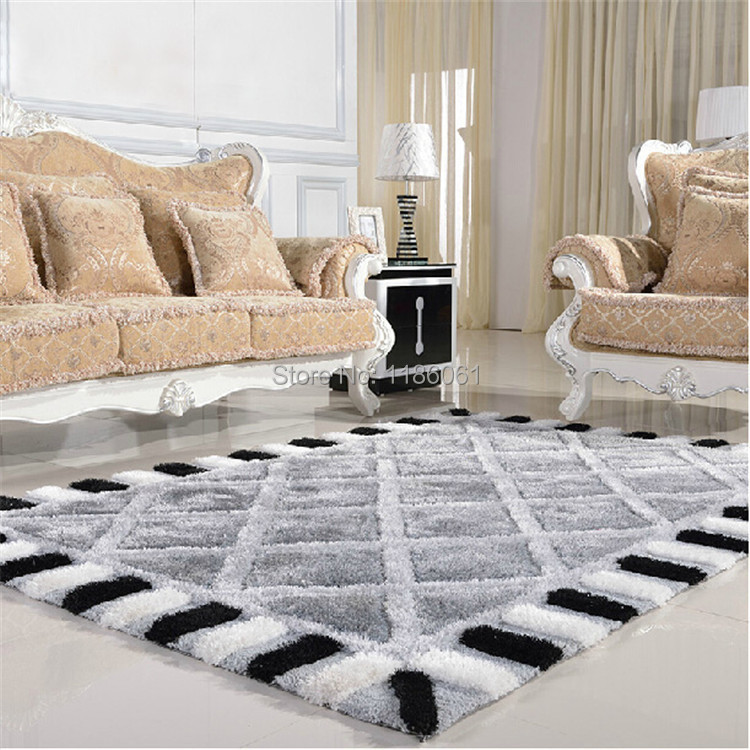 Hot Sale Plaid Modern Carpet For Livingroom and Area Shaggy Rug of ...
