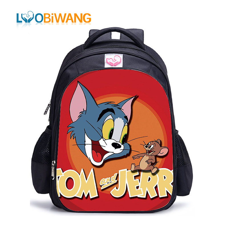 LUOBIWANG Tom and Jerry Printing School Backpacks Boys Girls Comedy Schoolbags for Teenager Gift Mochila Escolar Infantil in School Bags from Luggage Bags