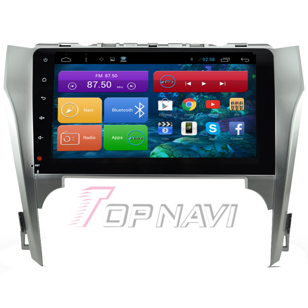 Top Free Shipping 10.2'' Quad Core Android 4.4 Car Stereo for Toyota New Camry 2012 With Radio Video Audio GPS Map Without DVD