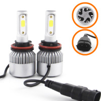 replacement car SHUOKE S2 car lights automotive led replacement bulbs headlight conversion bulb kit H11 12V 30W 2.8A 6000K 1900Lm per Lamp 2 pcs (5)