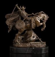 Медь латунь ремесла ation Азиатский потерянный воск литья Бронзовая статуя убийство классический рыцарь войны Военная Униформа коллекционны