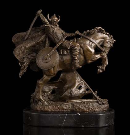 Copper Brass crafts ation Asian Lost Wax casting Bronze statue Killing Classic Knight War Military collectible figurines pet