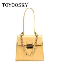 TOYOOSKY Womens bag luxury high quality classic crocodile pattern handbag brand designer OL small shoulder Messenger