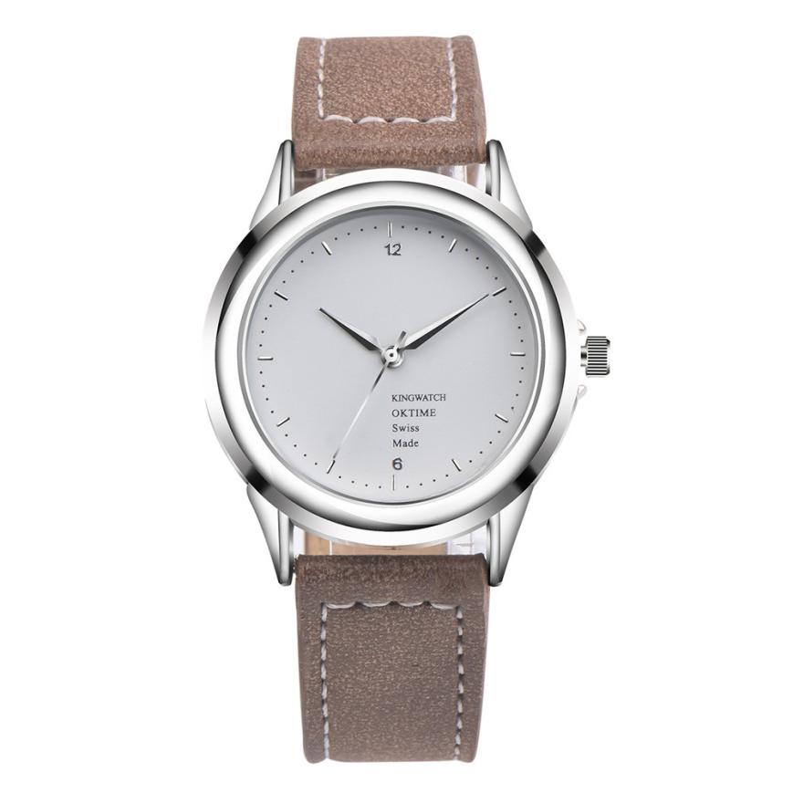 Relogio Feminino Watch Watches Women Fashion Leather Band Analog Quartz Round Wrist Watch Watches july25 new fashion women retro digital dial leather band quartz analog wrist watch watches wholesale 7055