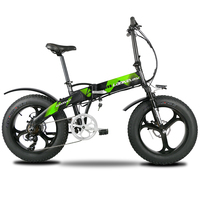 Lankeleisi X2000Plus Electric Bike Fat Tire Ebike 7 Speeds Full Suspenion Folding Road Bike 500W 48V 12.8A Mountain bike (Green)