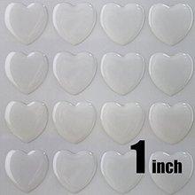 50 шт. 1 дюйм(25,4 мм) прозрачные эпоксидные наклейки в форме сердца