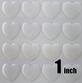 50 sztuk 1 cal (25 4mm) jasne serce naklejki epoxy tanie i dobre opinie