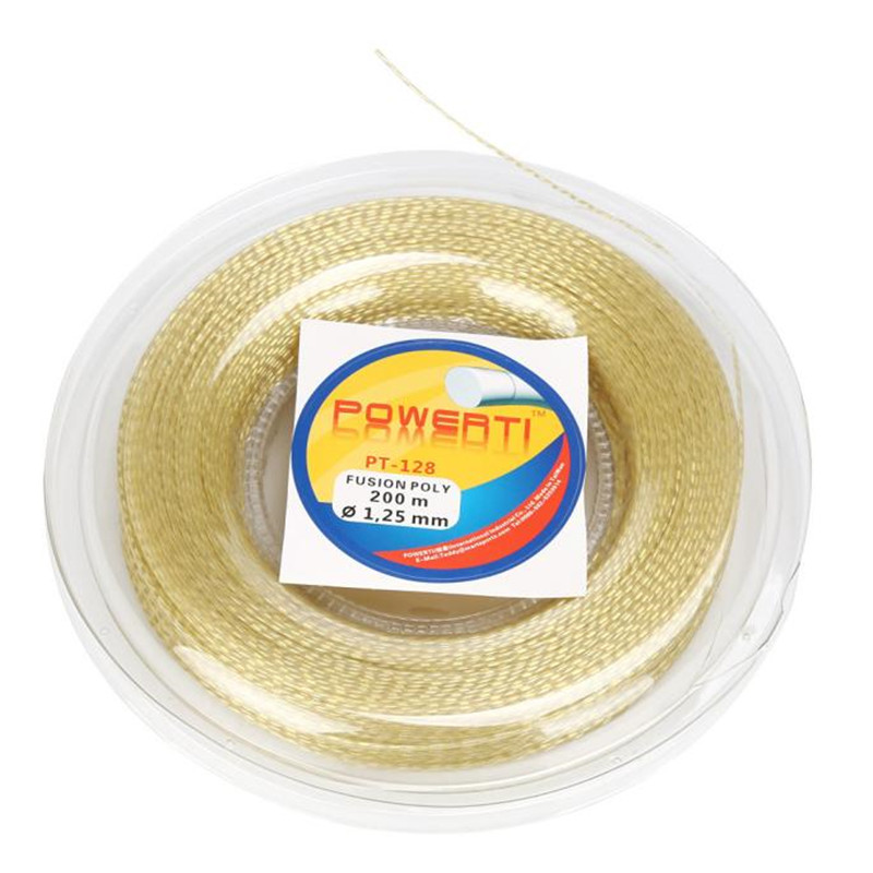 snowshine3 YLW POWERTI PT128 Tennis Racket String 17g (1.25mm) 656 feet (200m) Reel free shipping