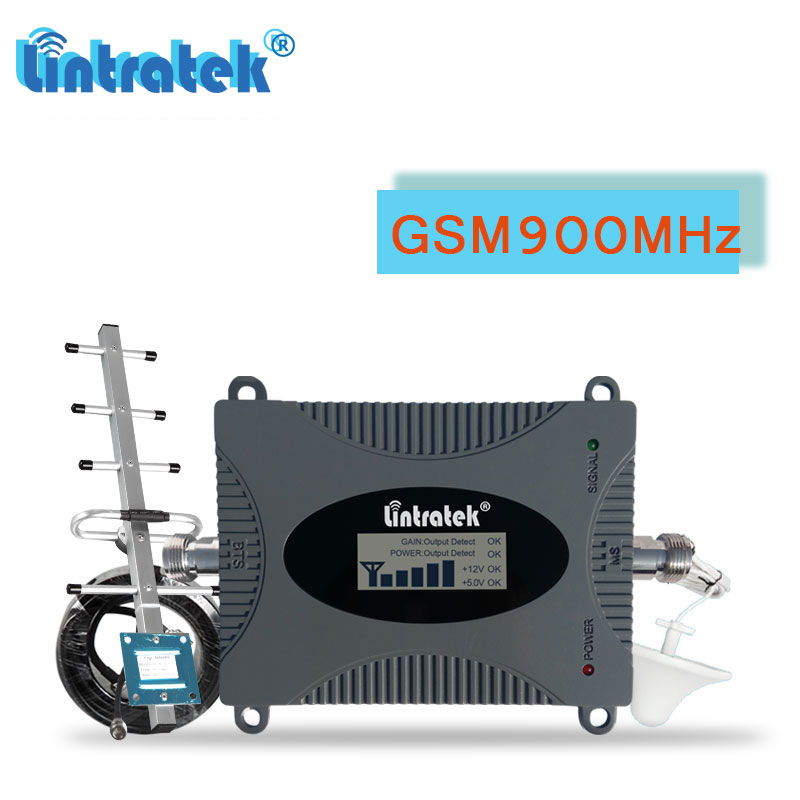 Lintratek 900 MHz GSM cellulaire Booster Signal GSM répéteur 900 téléphone portable charge utile antenne 10 m communication voix ensemble # fl