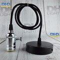 Glossy chrome finish brass key socket lighting fixture vintage E27 DIY hanging lamp copper material quality droplight 110V/220V