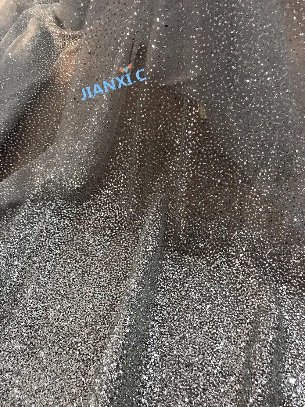 Sparkly silber JIANXI.C 1216117 glitter Afrikanische netto guipure stoff mit glitter hochwertigen-in Spitze aus Heim und Garten bei  Gruppe 2