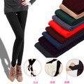 Meias quentes para o inverno mulheres doces cores Do Falso Velvet calças justas de Malha Grossa Magro collants Super-elástica vendas quentes