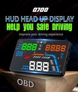 Image 2 - GEYIREN 5.5 OBDII Xe Ô Tô HUD OBD2 Cổng Đầu Lên Màn Hình Q700 Đo Tốc Độ kính chắn gió Máy chiếu tự động HUD lên màn hình hiển thị A100S