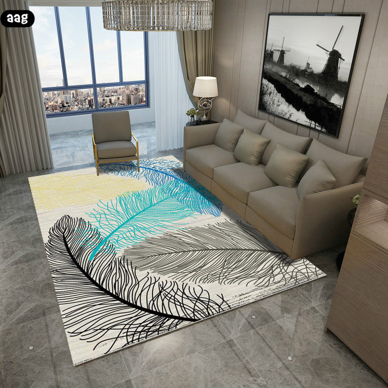 AAG Modern Nordic Geometric Pattern Carpet Area Rug Simple Living Room Coffee Table Room Bedroom Floor Rug Mat Kids Crawling Rug