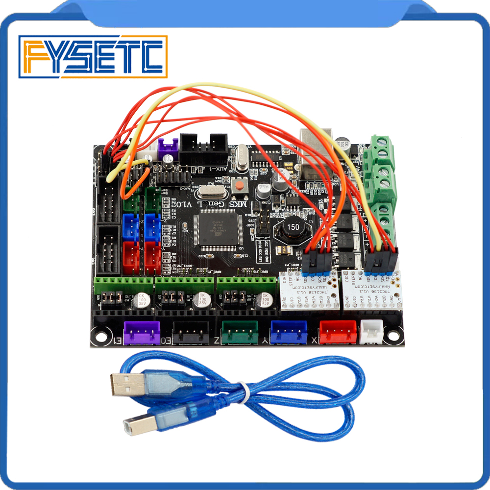 Controller Board MKS Gen-L V1.0 Integrated Mainboard Suitable Ramps1.4/Mega2560 R3 MKS Gen l v1.0 With 2 pcs TMC2130 V1.1 SPI mks gen l v1 0 integrated mainboard mks gen l v1 0 compatible ramps1 4 mega2560 r3 mks tft32 3 2 touch screen