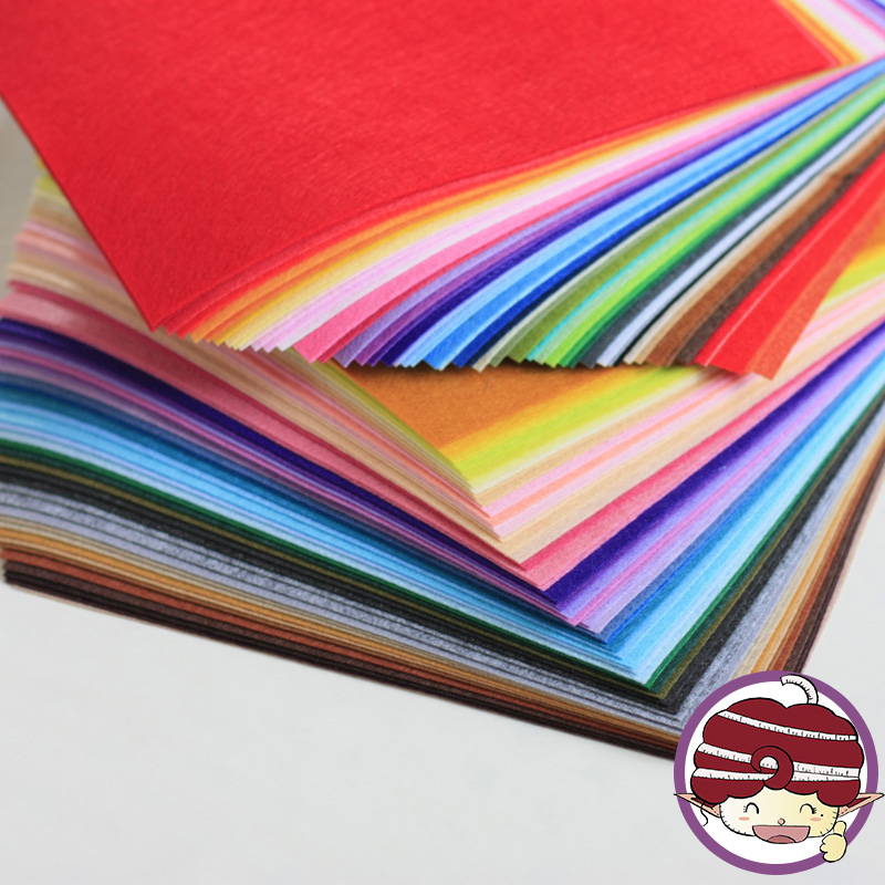 99 PCS Lot Felt Cloths Squares 30X30CM DIY Needlework Fabrics Non Woven 1MM Felt Cloth Felt
