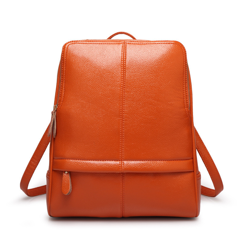 High Quality Fashion Women Genuine Leather Backpacks Girl School Bag Laptop Travel Bag Female Shoulder Bags New Designer new gravity falls backpack casual backpacks teenagers school bag men women s student school bags travel shoulder bag laptop bags