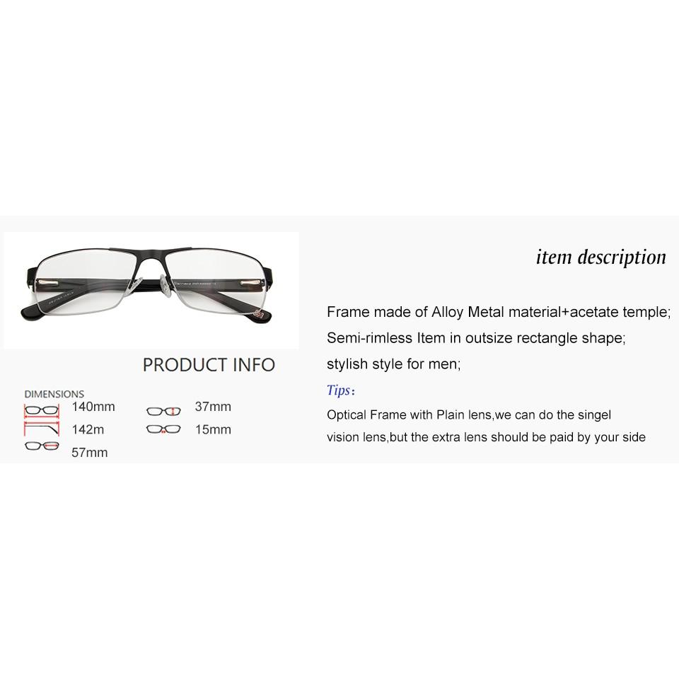 ESNBIE Neue Rechteck Übergroßen Brillen Rahmen Pilot Augenglasrahmen ...