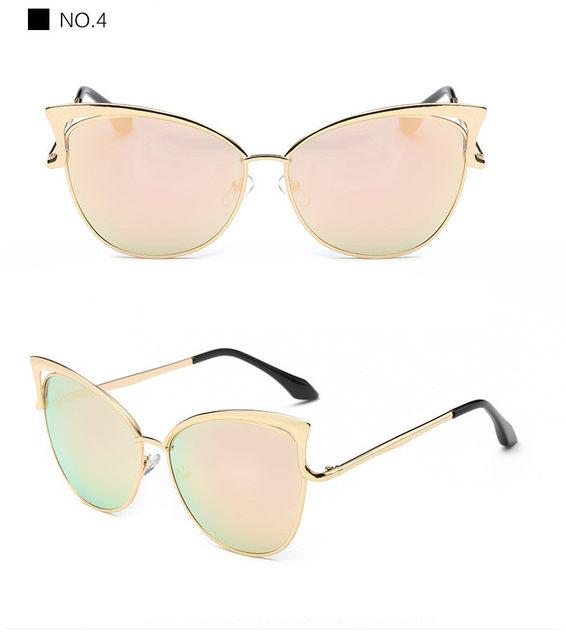 Luxury Cat Eye Sunglasses Women Brand Designer Retro Vintage Sun Glasses For Women Female Ladies Sunglass Mirror Lunettes Oculos (15)