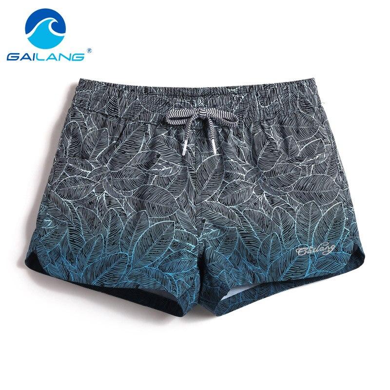 Gailang Brand Women Boxers Trunks Casual Active Bermudas Workout Shorts Woman Beach Boardshorts Quick Drying Swimwear Swimsuits