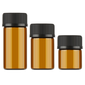 10pcs/Lot 1ml/2ml/3ml Mini Amber Glass Essential Oil Reagents Refillable Sample Test Bottle Brown Glass Vials With Cap