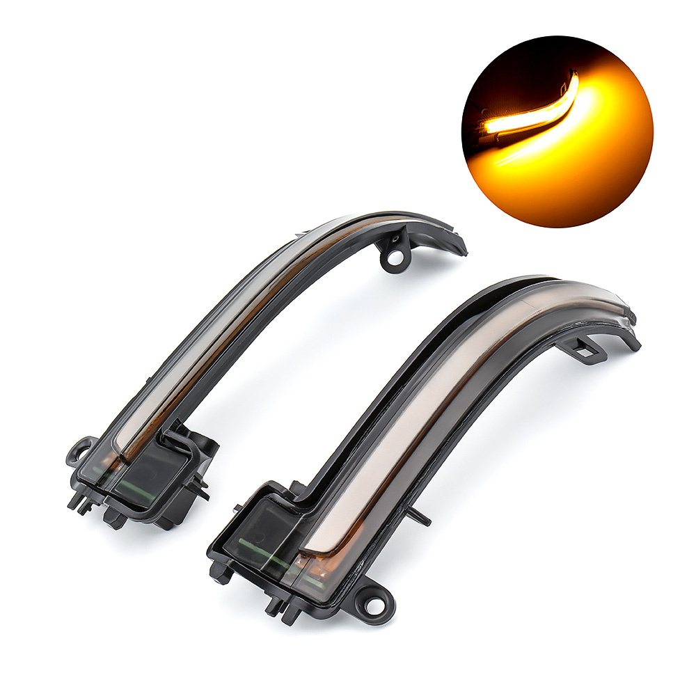 1 Pair Dynamic Turn Signal LED Side Wing Rearview Mirror Indicator Water Flowing Blinker Repeater Light