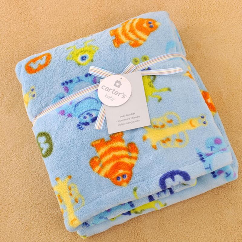 Baby Swaddle Newborn Coral Fleece Baby Cute Cartoon Bedding Baby Blankets Newborn  Warm Bebe Infant Blanket BK010