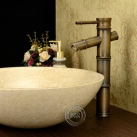 BECOLA Brand Design torneiras vintage antique brass faucet bronze bathroom sink faucet bamboo Free shipping GZ 8025