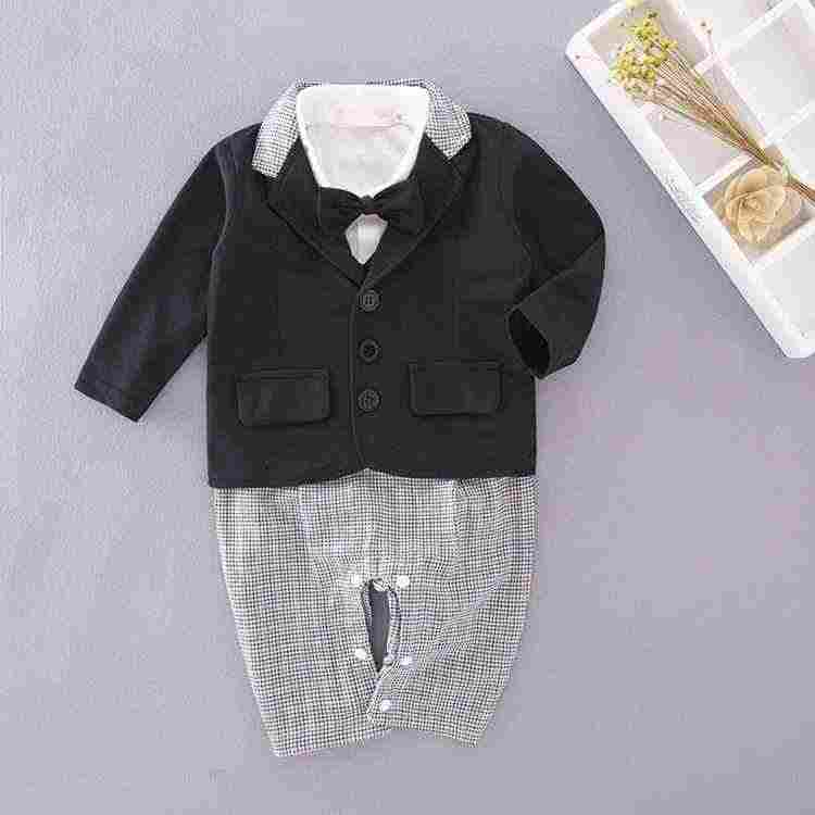 60369a63af9 ... BabyBoys clothing Gentleman set coat+lattice romper wedding Event  birthday outfits 12m Boy Clothes costumeinfant ...