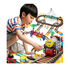 212/ Set Thomas train electric eight rail cars 8 tracks Friends Mini Electric Train Set Track Toys