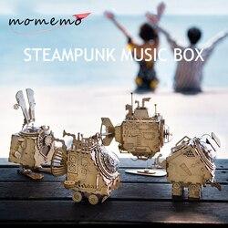 MOMEMO Music Box Di Legno di Puzzle FAI DA TE Modello In Legno Assemblati Giocattoli Robot Meccanico 3D Modelli di puzzle di Legno di san valentino regali di Giorno