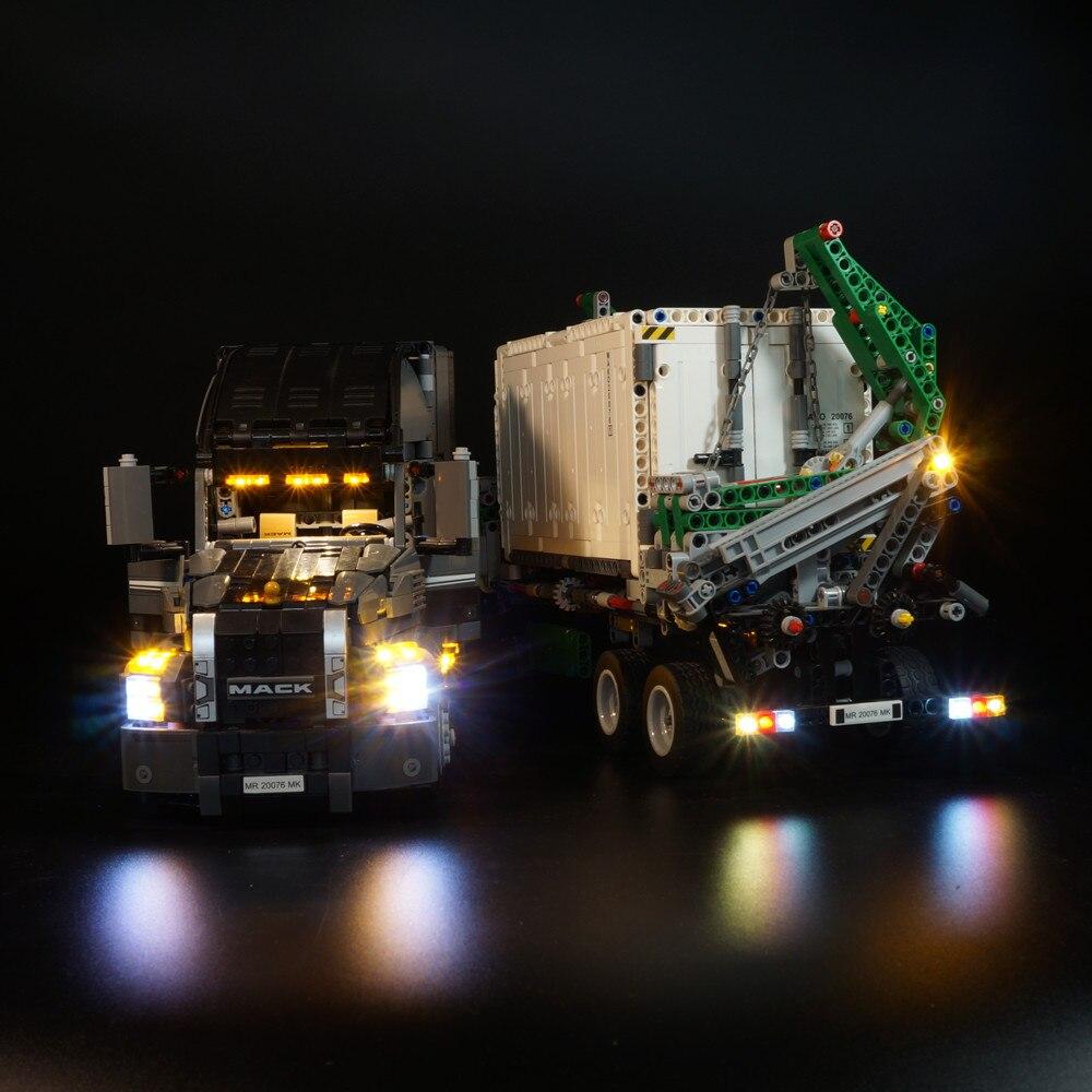 Kit d'éclairage LED pour lego Technic Series 42078 et 20076 l'ensemble de camions Mack AnthBig (la voiture non incluse)